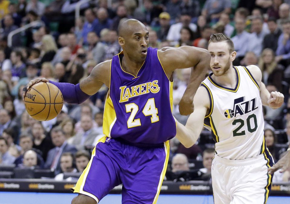 Kobe Bryant and Gordon Hayward clashed in a 2016.