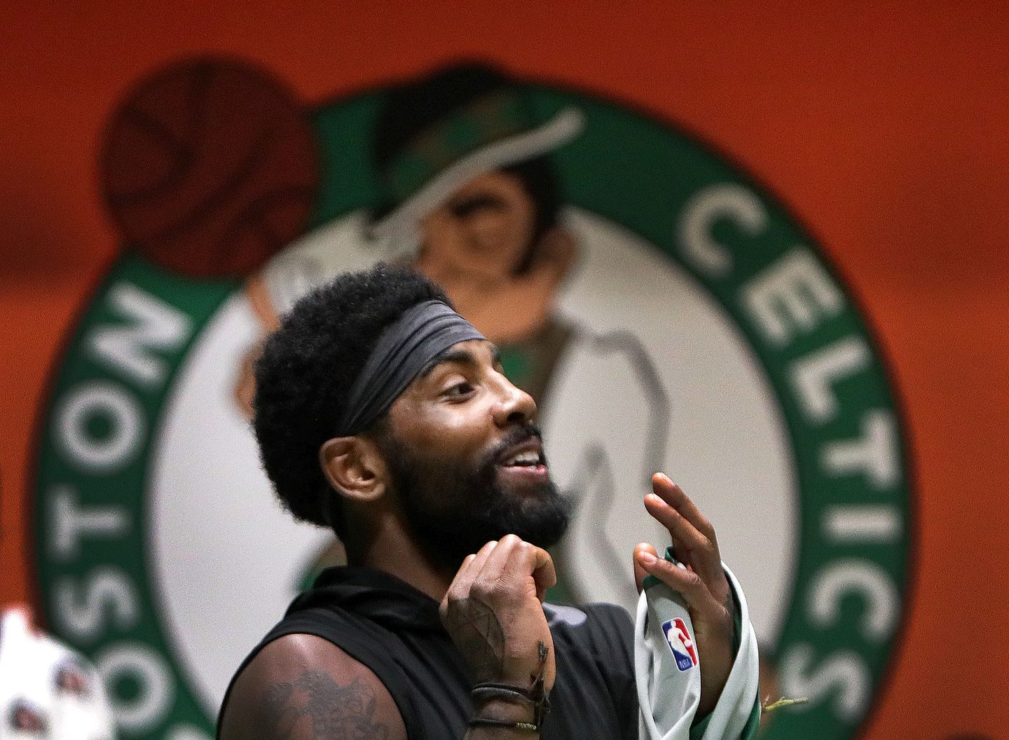 292b9d56bb4c Kyrie Irving announced his decision during a brief Q   A with a Celtics  television analyst