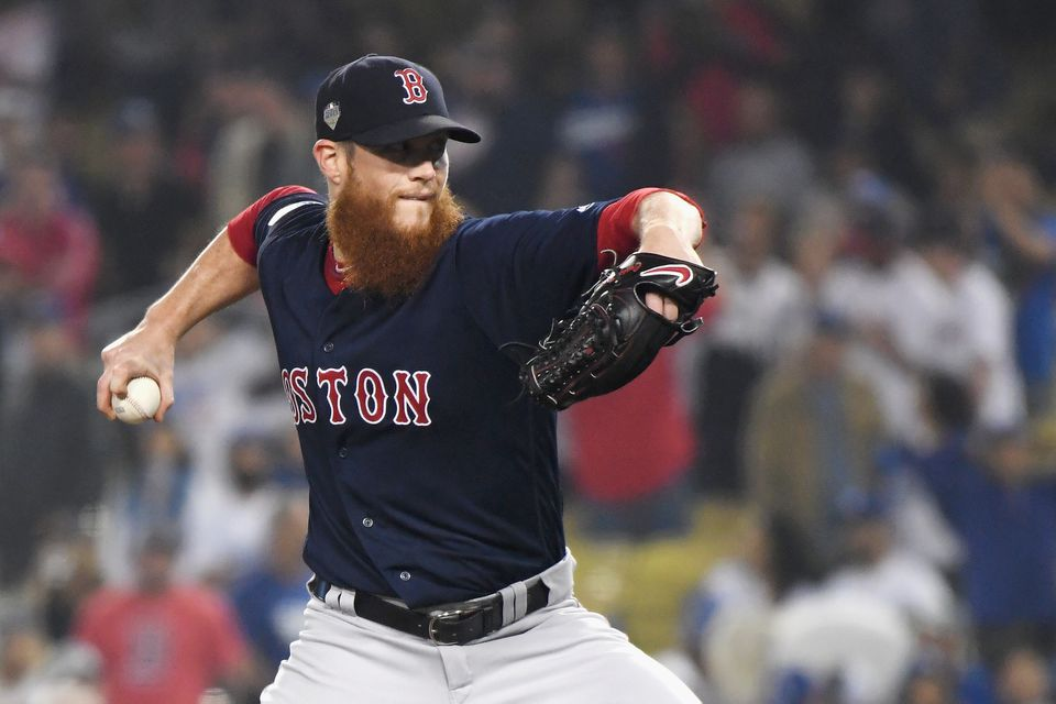 "Closer Craig Kimbrel struggled during the postseason for the Red Sox, giving up seven runs in 10<span class=""web_fractions"">⅔</span>  innings."