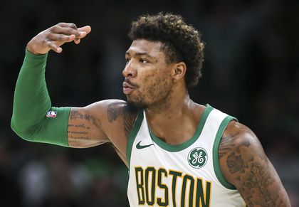 huge discount af6ef c1512 Don't expect an early comeback by Marcus Smart - The Boston ...