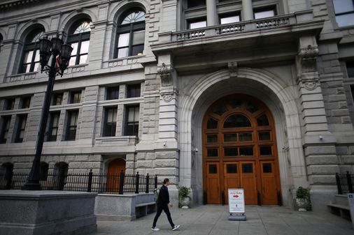 Mass . launches plan to reduce number of people entering courthouses