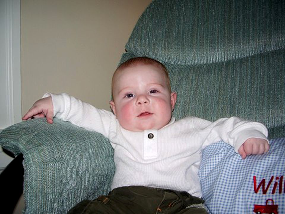 Will Lacey at 4 months old, shortly before being diagnosed with cancer.