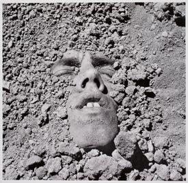 """David Wojnarowicz's self-portrait """"Untitled (face in dirt)."""""""