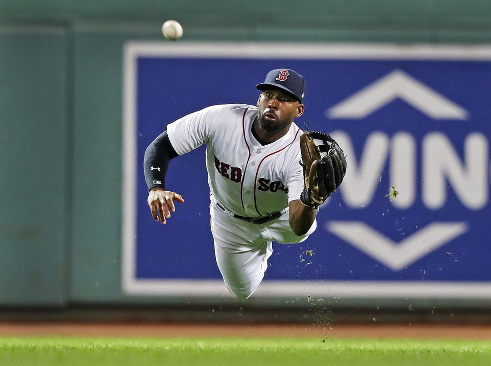 Jackie Bradley Jr. had a .982 fielding percentage and nine outfield assists in 2018 that led to winning a Gold Glove Award.