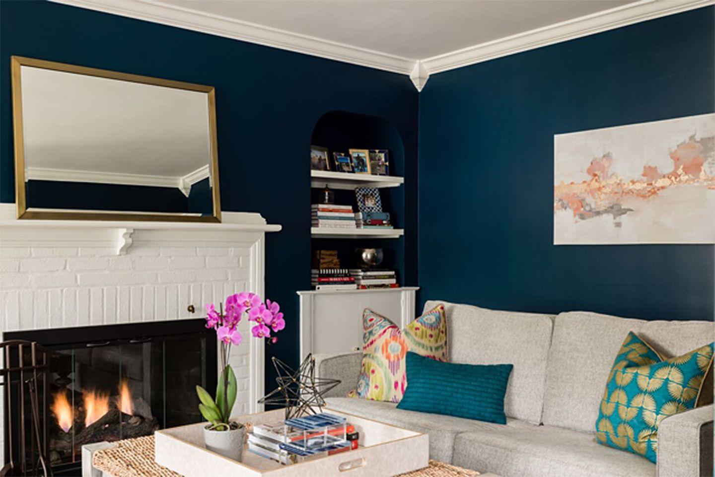 How to pull off navy blue walls - The Boston Globe