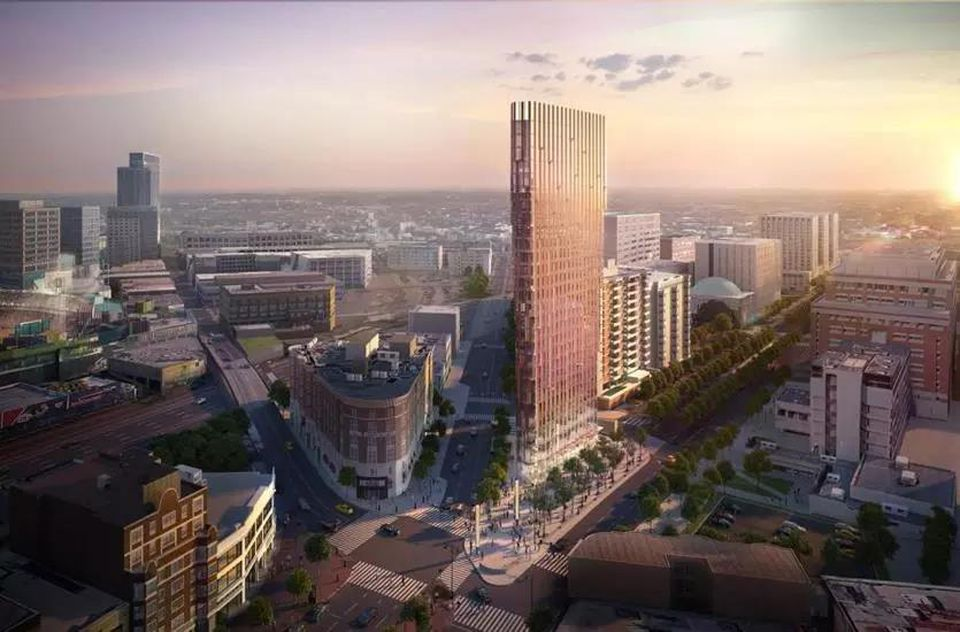 A proposed hotel tower in Kenmore Square.