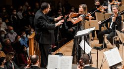 Violinist Lisa Batiashvili performed Sibelius's Violin Concerto with the BSO and music director Andris Nelsons on Oct. 14.