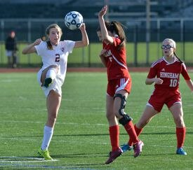 Meg Wilson (2) netted 20 goals in her senior season, helping Concord-Carlisle reach the Division 2 state final for the first time in 25 years.