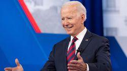 US President Joe Biden at a town hall hosted by CNN in Cincinnati.