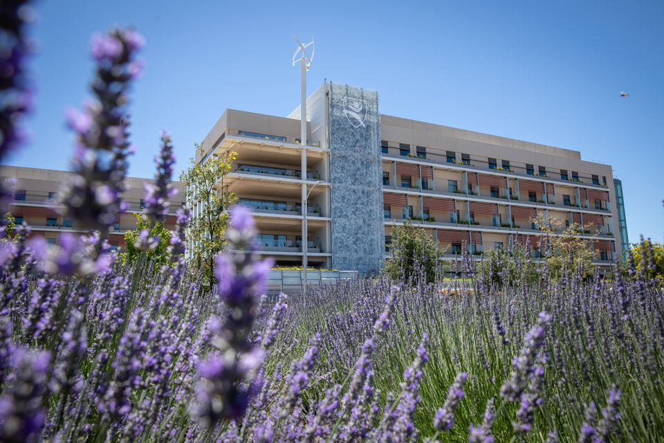 An outside view of the new Lucile Packard Children's Hospital at Stanford in Palo Alto, Calif.