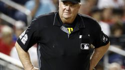 Joe West (above) is on track to break Bill Klem's career record of umpiring 5,370 games.