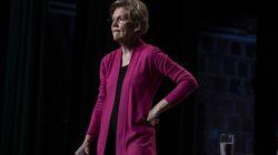Senator Elizabeth Warren campaigned in New Hampshire in February 2020.