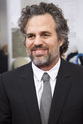 """Actor Mark Ruffalo at the premiere of the movie """"Spotlight"""" in Brookline."""