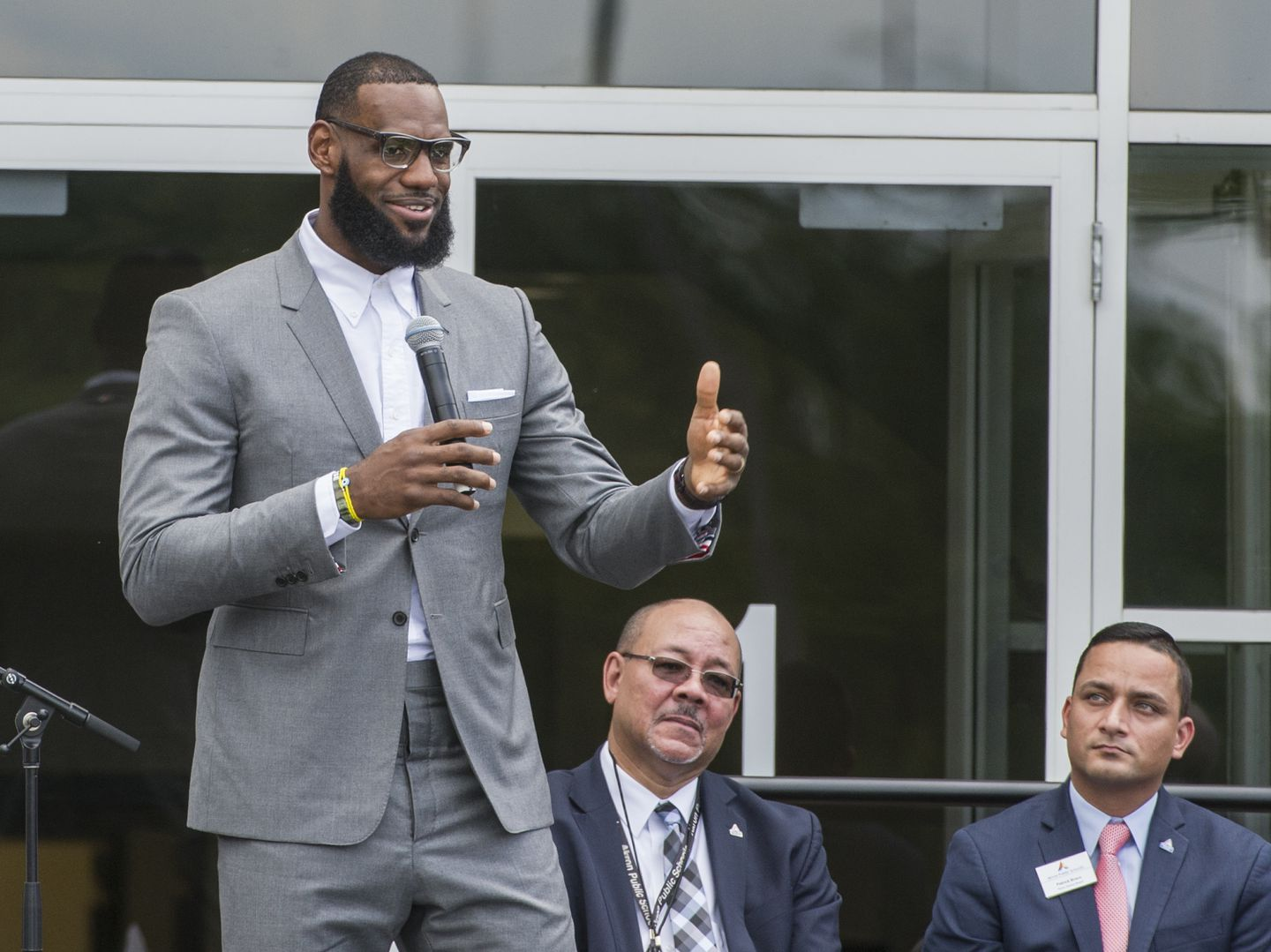 1cb036f525c LeBron James spoke at the opening ceremony for the I Promise School in  Akron