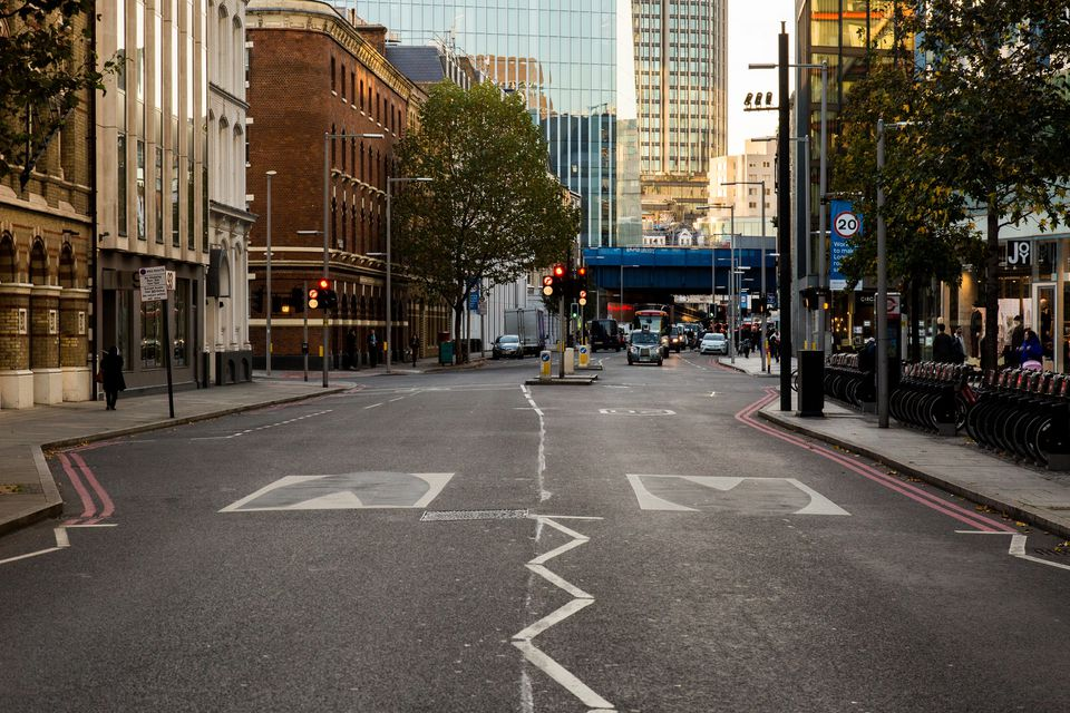 In London, officials have painted what look to drivers like speed bumps, even though the road is flat.