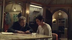 "Al Pacino and Logan Lerman in a scene from season 1 of ""Hunters."""