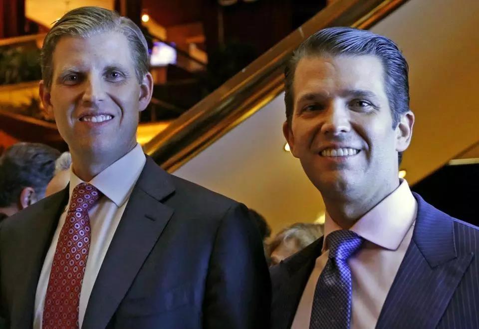 Eric Trump (left) and Donald Trump Jr.