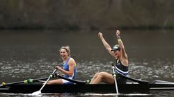 Gevvie Stone and Kristina Wagner won the women's double sculls final at the US Olympic and Paralympic rowing trials on Thursday in New Jersey.