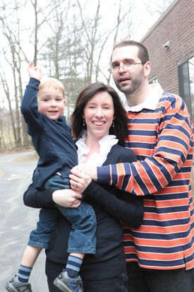 """Katie and Mike Brandt celebrated Noah's third birthday and Mike's 32d<span channel=""""!BostonGlobe/NO2_REG-01""""> birthday in March 2011.   </span>"""