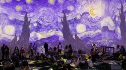 """The press preview for """"Van Gogh: The Immersive Experience"""" was held in London in July."""