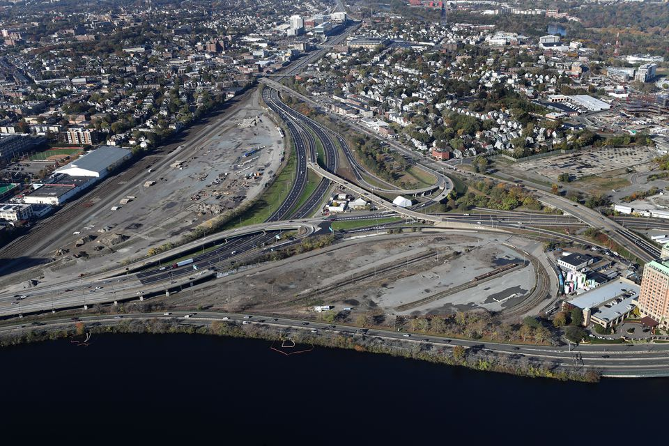 The purpose of the project is to straighten the Massachusetts Turnpike, which currently curves to avoid cutting through a now-disused rail yard.