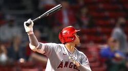 Shohei Ohtani hit a pair of home run in the Angels' three games at Fenway Park last month.