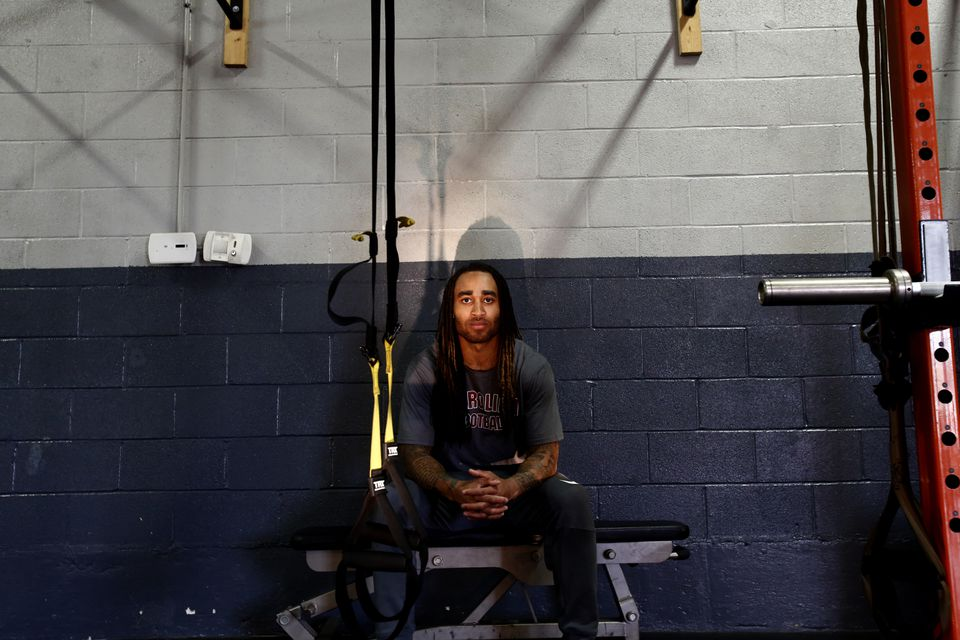 New Patriots cornerback Stephon Gilmore at a workout Wednesday at Athlete by Design in Charlotte, N.C.