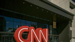 Outside CNN headquarters in Atlanta, Dec. 10, 2020.