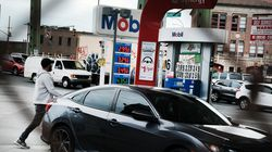 As gas prices continue to rise, people filled up at a station in Brooklyn.