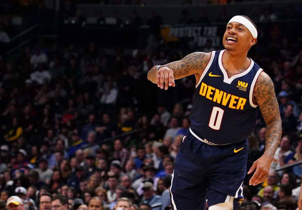 Isaiah Thomas scored 8 points in 13 minutes in his Nuggets debut.