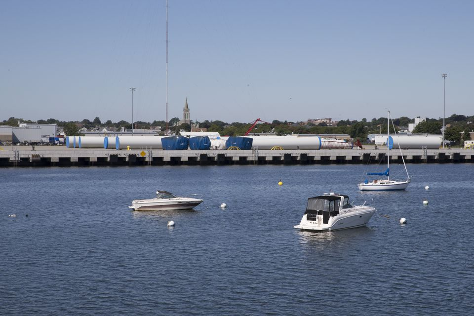 The New Bedford terminal received and stored wind turbine components from manufacturer Gamesa for its wind farm in Plymouth.