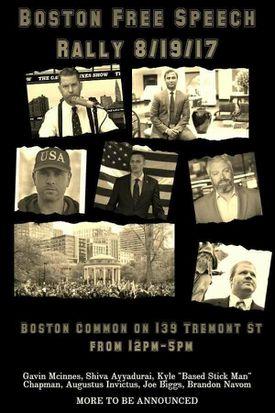 A Boston Free Speech Rally poster on Facebook.