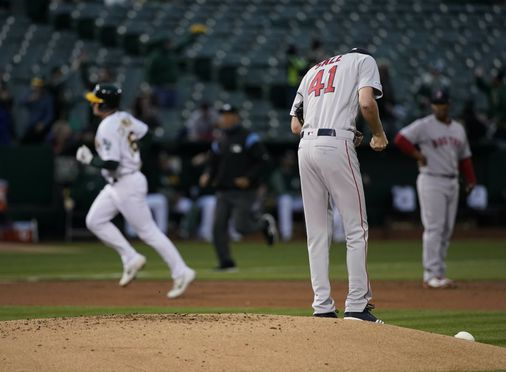 'Nothing's going our way.' Red Sox lose despite holding A's to 1 run