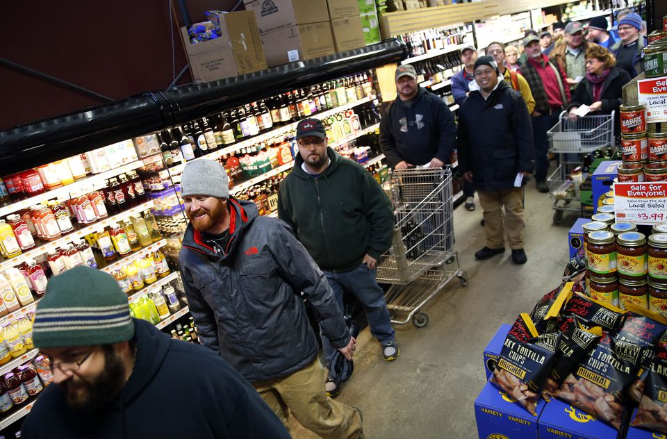 There was a long line last week to buy cases of The Alchemist brewery's Heady Topper at Hunger Mountain Coop in Montpelier.