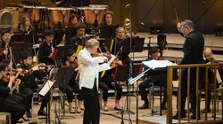 Violinist Anthony Marwood was a standout in a performance with the TMC orchestra under conductor Thomas Adès.