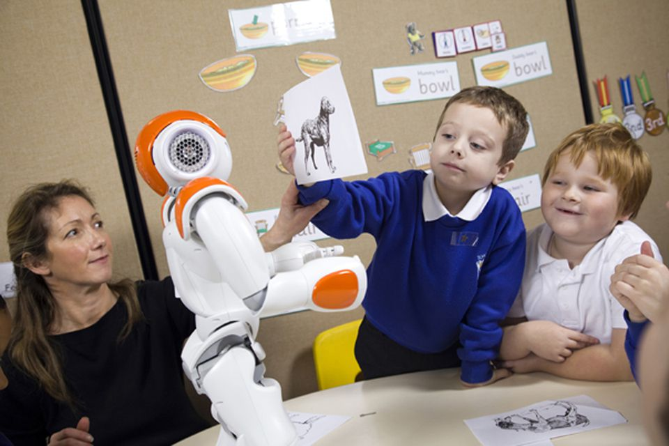 NAO robots can be easier for overstimulated kids to understand.