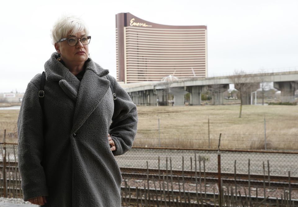 """Nancy Thomas of Somerville says the casino is """"like an evil person watching over me."""""""