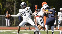 Lawrence sophomore Jayden Abreu completed 10 of 11 passes for 171 yards and two touchdowns in the Lancers' 37-26 win at Andover on Saturday.