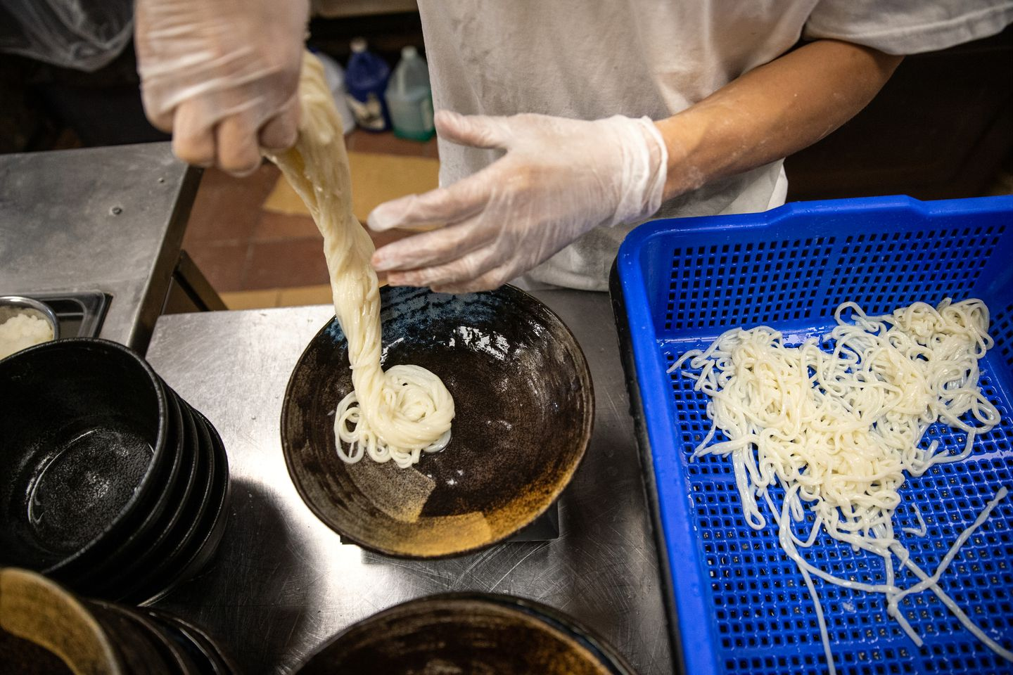 Yume Ga Arukara head chef Tomohiro Shinoda served udon noodles in Cambridge.