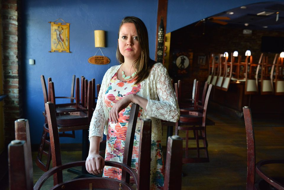 Alissa Mermet manages Tango, an Argentinian restaurant in Arlington Center. She's afraid her restaurant will have to close because of rising rents.