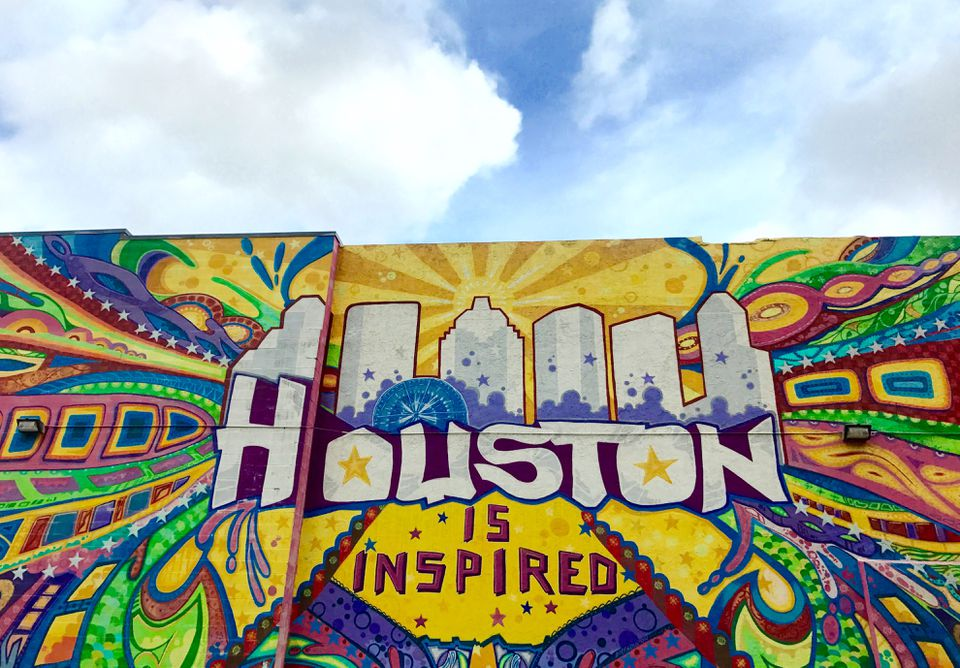 A mural in downtown Houston offers colorful inspiration.