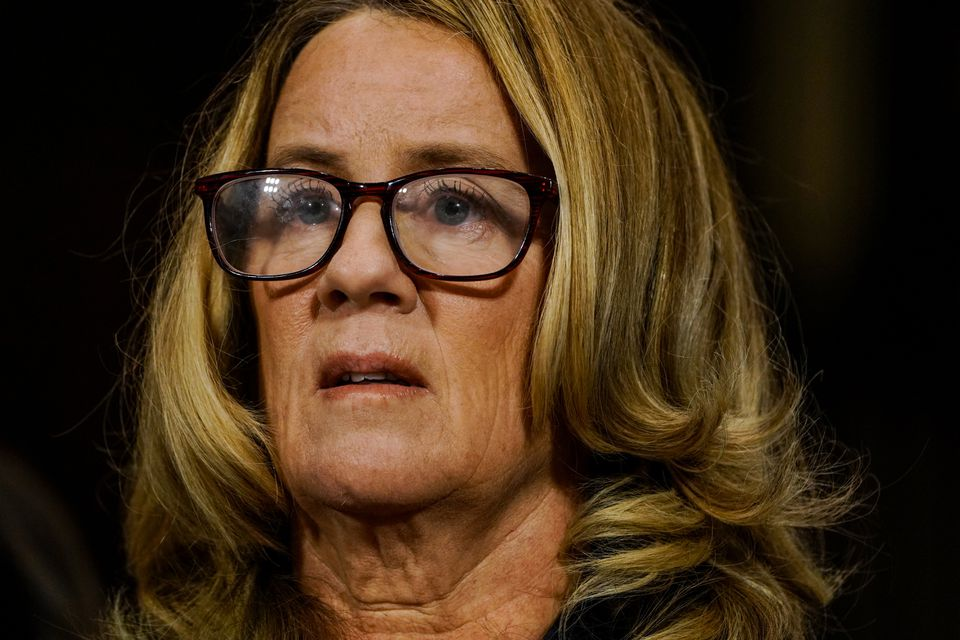 Christine Blasey Ford testifies before the Senate Judiciary Committee on Sept. 27.