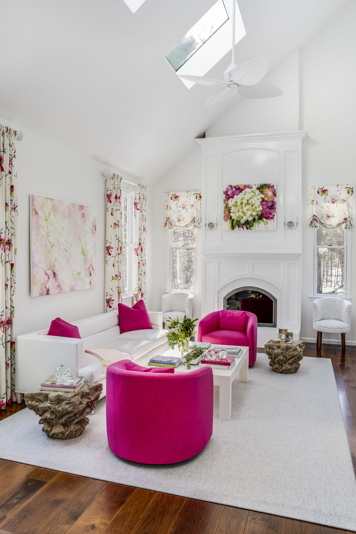 Updating A Living Room In Hot Pink - The Boston Globe