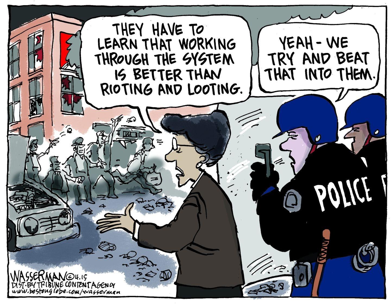 Editorial Cartoon Baltimore Riots The Boston Globe