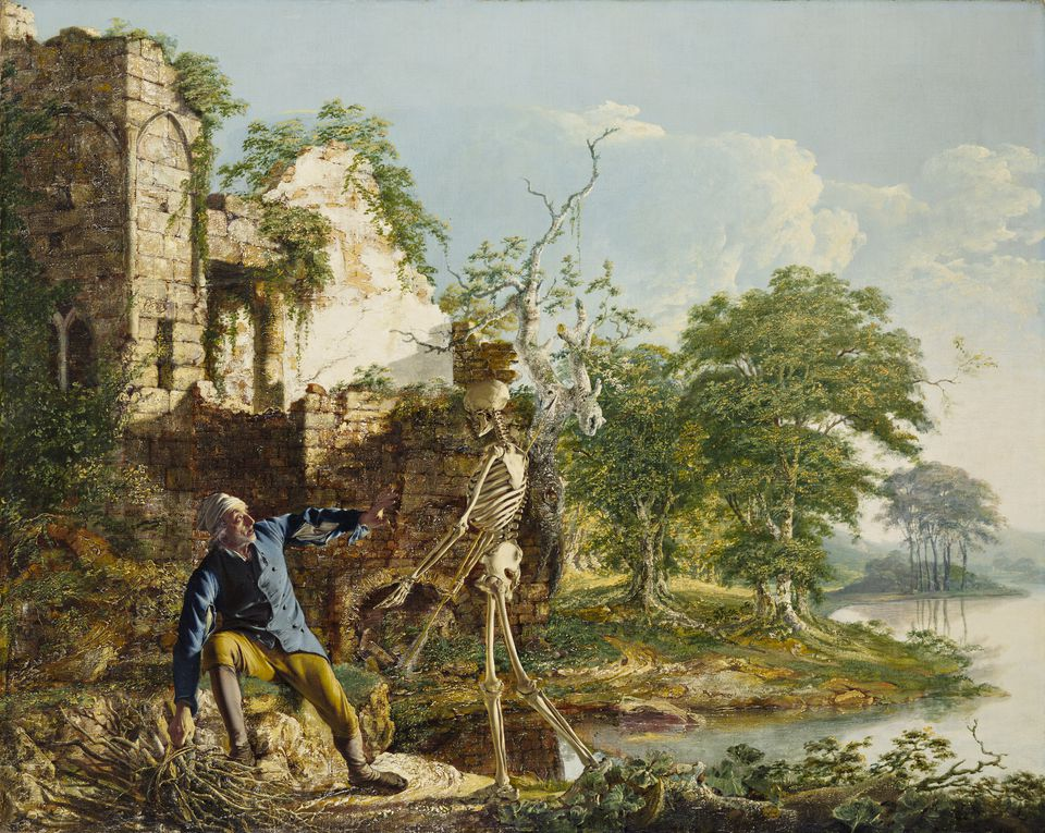 """Joseph Wright of Derby's """"The Old Man and Death"""""""