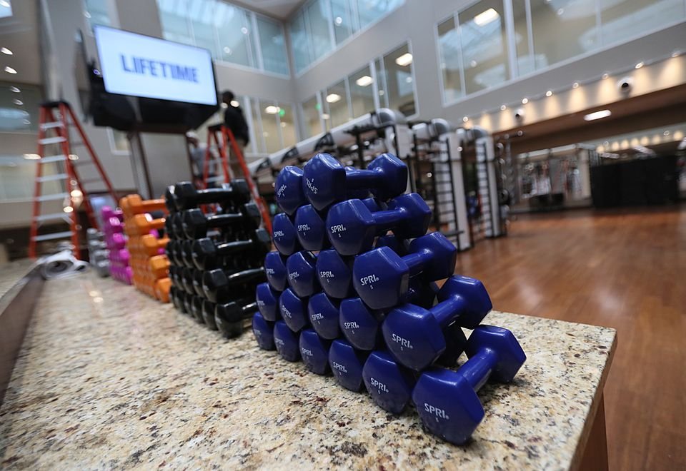The Life Time fitness complex that will open in Burlington this spring will be a Diamond level club, as is the Life Time facility in Chestnut Hill (above).