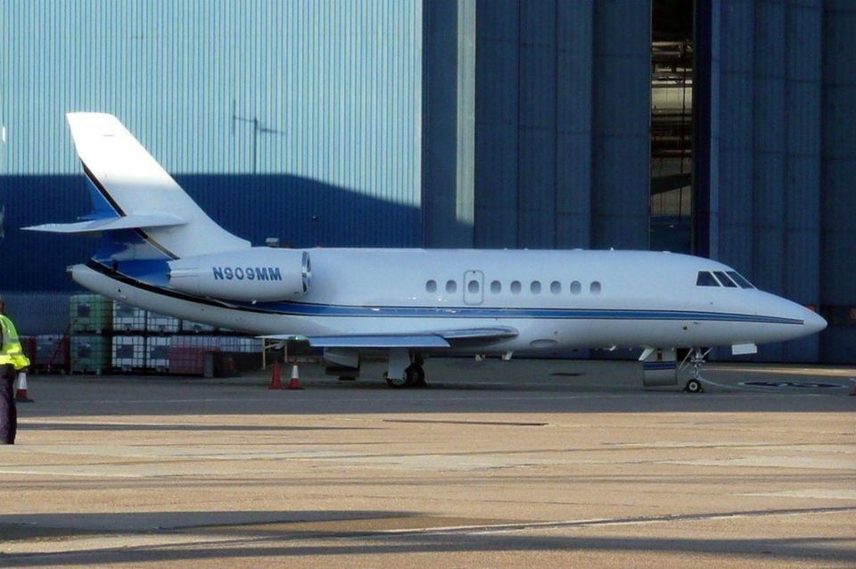 MassMutual's chief executive receives perks like personal use of the company's two corporate jets — including a Dassault Falcon (above) — and two helicopters.