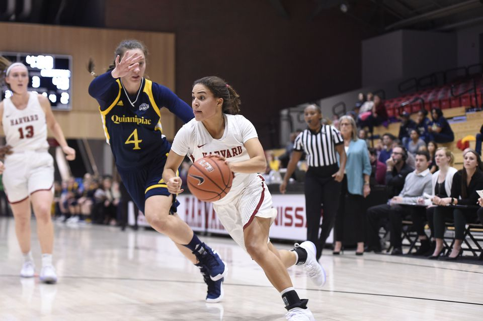Katie Benzan is leading Harvard's women's basketball team in scoring and assists in her junior season.