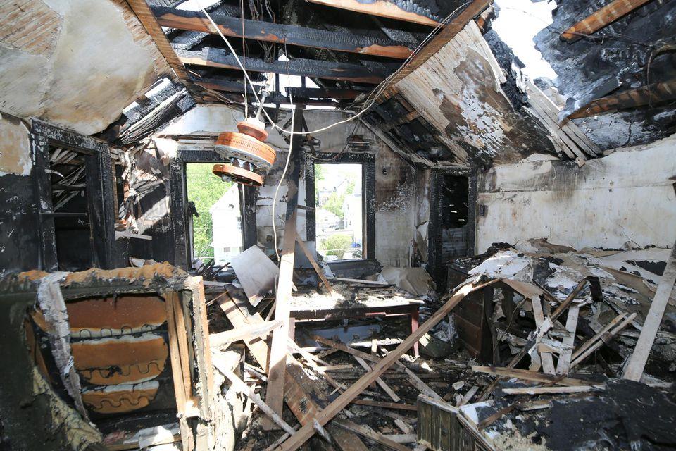 The inside of the home on Lebanon Street in Melrose.