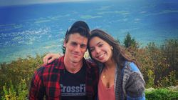 Michael Underhill and his girlfriend, Hannah Duarte, on Mount Greylock in the Berkshires.